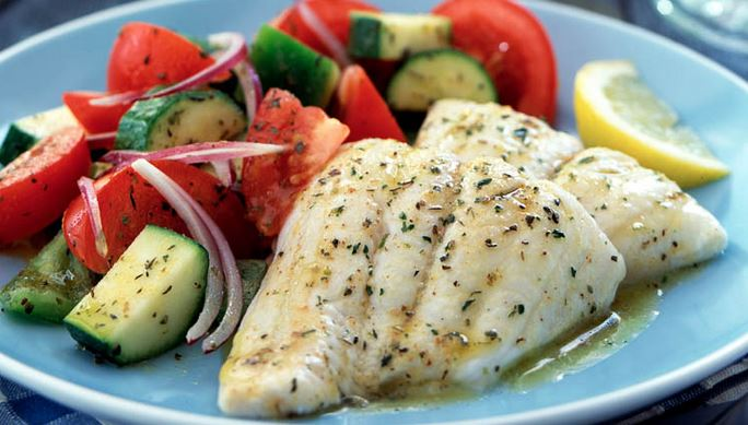 Tilapia with herb butter